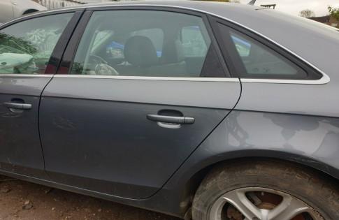 Audi A4 B8 door passengers rear left saloon grey LX7R