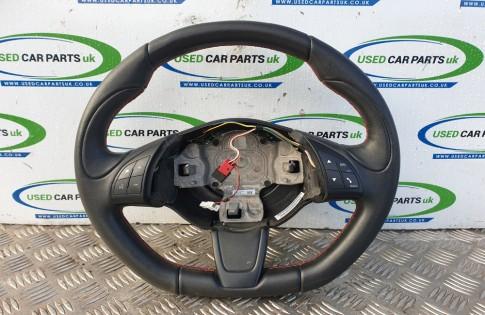 Fiat 500 S steering wheel flat bottom 3 spoke 7355909170