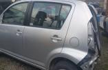 Daihatsu Sirion door passengers side rear silver 2005-2010 5 door