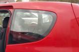 Mitsubishi Colt quarter window glass passengers rear 3 door 2008-2013