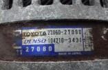 Toyota Corolla D4D alternator 27060-27090 104210-3431 2002-2006