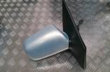 Toyota Yaris manual door wing mirror drivers blue 1999-2006