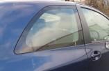 Toyota Yaris MK2 quarter glass window 3 door drivers rear 2008