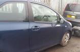 Toyota Yaris door blue 8P4 drivers front 3 door MK2 2008
