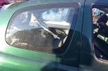 Toyota Yaris quarter window glass 3 door drivers rear 1999-2005