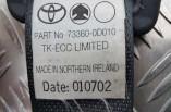 Toyota Yaris seat belt drivers rear 3 door 1999-2005 73360-0D010