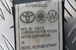 Toyota Yaris seat belt passengers front left 3 door 1999-2003