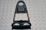 Vauxhall Corsa D piano black centre dash trim fascia panel air vents hazard switch