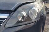 Vauxhall Zafira Exclusiv headlight passengers front left black inner 2014